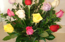 Assortment of Mixed Roses in a Vase