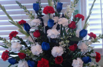 Red white blue arrangement – $189.65