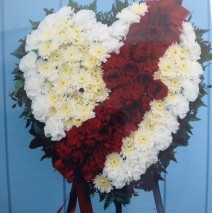 Broken heart arrangement – $189.00